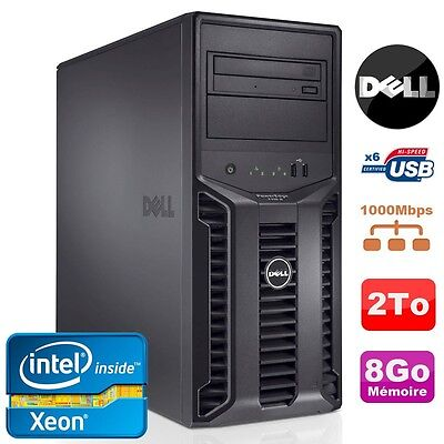 Server DELL PowerEdge T110II Xeon Quad Core E3-1220 3,1Ghz NR 8Go 2To DVD