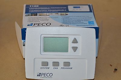 Peco TB180-001 3 Speed Staged Fan Programmable Thermostat NOS