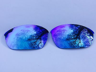 New Engraved Polarized Ice Blue Mirror Replacement Oakley Half Jacket 2.0 Lenses