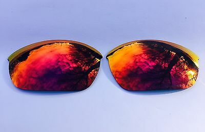Engraved Polarized Fire Red Mirror Replacement Oakley Half Jacket 2.0 Lenses