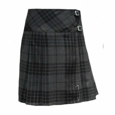 Tartanista - Damen Scottish Highland-Kilt - 51 cm KnieLänge - Grünit