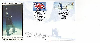 Sir Edmund Hillary hand-signed Everest 50th anniversary Limited Edition FDC
