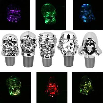 Universal Skull Acrylic Touch Activated 7 Colors LED Manual MT Gear Shifter Knob