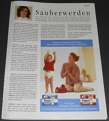 1994 vintage ad page - PAMPERS TRAINERS DIAPERS - GERMANY 1-PAGE PRINT ADVERT