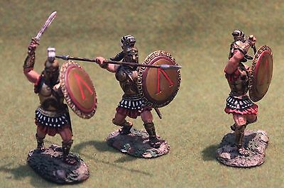 conte greeks 54mm metal scale toy soldiers britains king & country