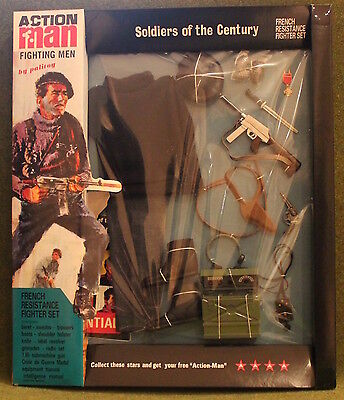 vintage action man 40th anniversary 1st issue french resistance card boxed