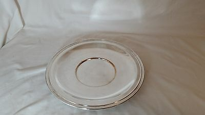 Wm A Rogers  Silver Plated 10 in Sandwich Plate Eagle & Star Mark