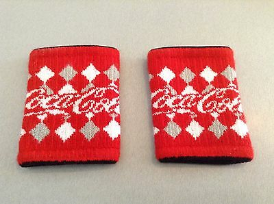 ( 2 ) Coca Cola Can Sweater Coke Coozie Koozie Red White Snowflakes Promo RARE