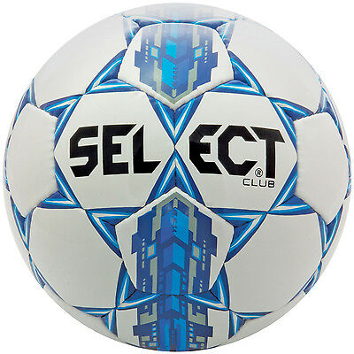 Select Club Soccer Ball, Hand Sewn with Latex Bladder - Size 5 (New Version)