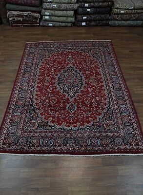Fine Traditional Plush Handmade Mashad Red Persian Oriental Area Rug Sale 8X11