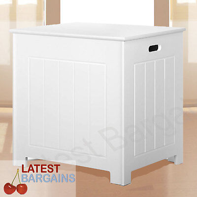 White Storage Bench Bedroom Blanket Chest Cabinet Kids Toy Box Laundry NEW