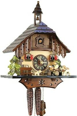 Black Forest Cuckoo Clock Wooden 1-Day Mechanical Mechanism with VDS Certificate