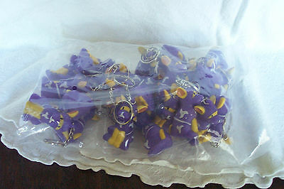 Bag Lot of Purple Space Dogs Key Chain / Ring New