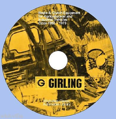 Information on Girling Brake & Clutch Agricultural & Industrial 1964 to 1972 DVD