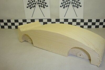 Pinewood Derby Car Lightly Lathed Pro Graphite Coated Bsa