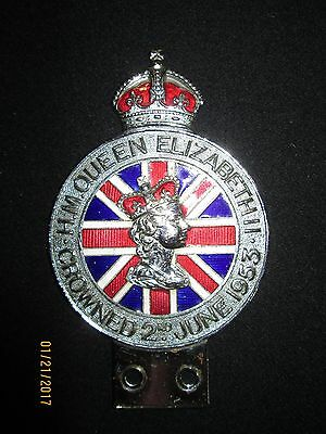 "Queen Elizabeth II  Licence Plate Topper  "" 1953 Crowned """