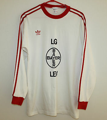 Extra Rare Vintage Bayer 04 Leverkusen Germany jersey 80's Adidas Long Sleeves