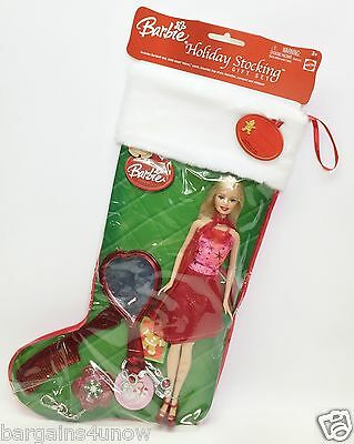 2004 Barbie Holiday Stocking Gift Set Nrfp