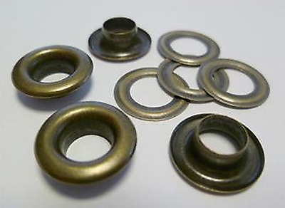 125 Pieces EYELETS 7,0 mm rust-free ANTIQUE RIVETS,f. SPINDLE PRESS,EYELET PRESS