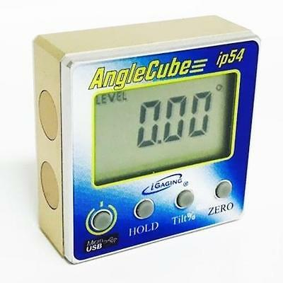 Igaging Rechargable Digital Angle Cube Sensor Level & Bevel & Tilt Gauge 3 in 1