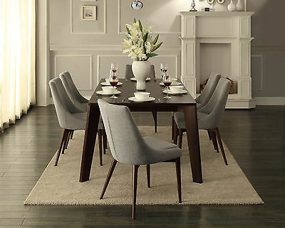 WALTER - 7pcs Classic Modern Rectangular Dining Room Table Chairs Set Furniture