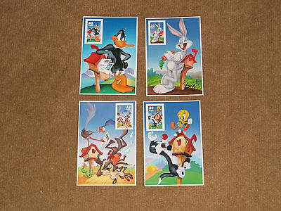 Looney Tunes Cards with Mint Stamp (set of 4)