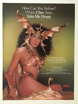 "Cher 1979 Take Me Home Original 8.5X11"" Full Page Print Promo Ad"