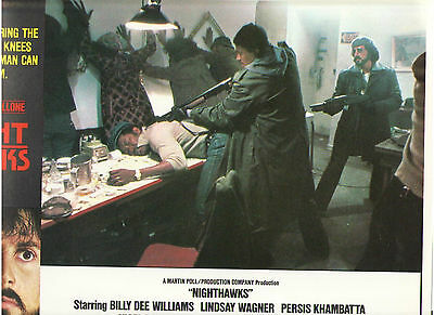 Nighthawks Sylvester Stallone Billy Dee Williams Drug Bust Hauer Org Lobby Card