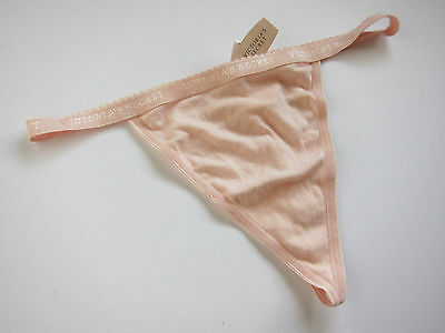 ce0b57fbd3a4b NWT Victoria s Secret VINTAGE 100% Cotton Signature V-String Thong Panty  LARGE