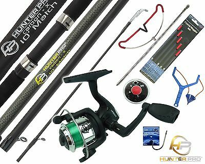 Complete Starter Fishing Tackle Set Kit With Hunter Pro® Rod Reel Tackle Etc.