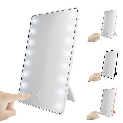 Table Rotatory LED Lighted Vanity Mirror with Light Oenbopo Smart Touch Kicks...