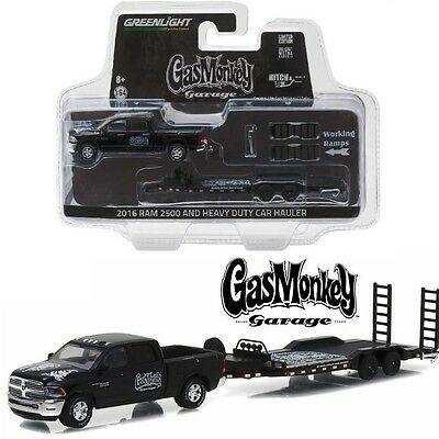Greenlight 1:64 Hitch & Tow Series 8 - Gas Monkey Garage - 2016 Ram 2500 And Hea