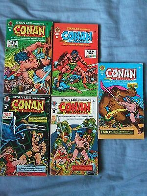 Conan The Barbarian vol # 2 - 6. Ace Pocket Books, 1970's
