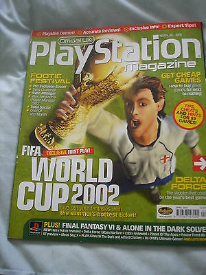 Official UK Playstation magazine with disc  issue # 83 - FA world cup