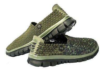 Navitas Apparel Carp Fishing Weave Slip On Bivvy Slipper Camo / Green Shoes 8-13