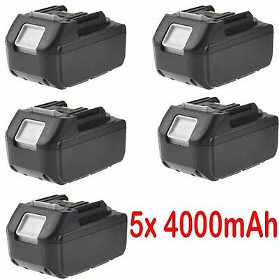 5x 18V 4.0AH Battery For Makita BL1840 BL1830 BL1815 LXT Lithium Ion Cordless
