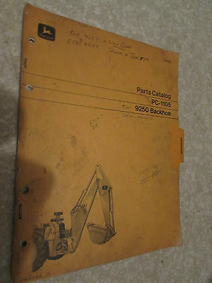 John Deere 9250 Loader Backhoe Parts Catalog Pc-1105