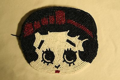 Betty Boop Beaded Change Purse, Handmade in Canada