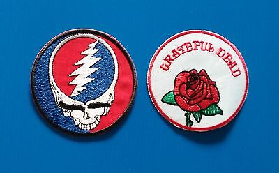 2 Lot GRATEFUL DEAD  3 Inch Embrodered Iron Or Sewn On Patches Free Ship