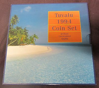 Tuvalu 1994 uncirculated circulation coin set in official Australian mint pack