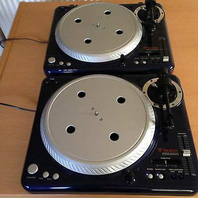 RARE VESTAX PDX2000 Limited Edition Blue Turntables, PAIR