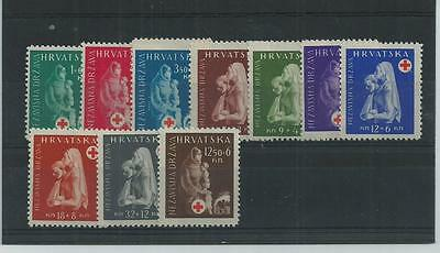 Croatia 1943 Red Cross Fund Superb Mnh