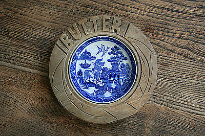 Willow Pattern Newport Pottery Butter Dish