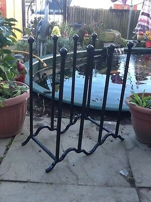 wrought iron wellington boot/metal Wellie rack holds Upto four pairs