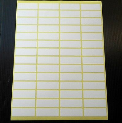 56 Small white stickers labels13x38 mm adhesive labels sheet tags blank envelope