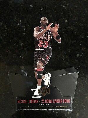 Upper Deck Michael Jordan 25,000th Point Cardboard Cut Out