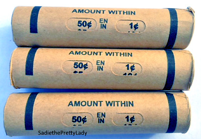 Three Premium Window Wrapped Lincoln Wheat Cent Penny Rolls - 150 COINS