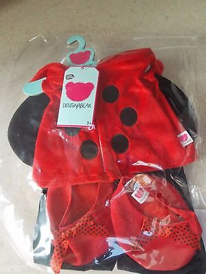 New Design A Bear ladybird outfit/ clothes  For Chad Valley Designabear