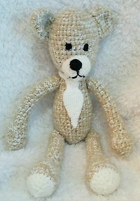 Crochet Plush Toy Teddy Bear Birthday Present New Born Gift Stuffed Animal