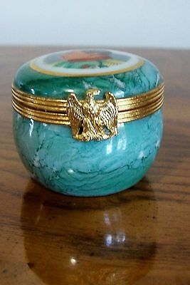 Vintage Limoges D.Ulmet 22K Gold on Porcelain Pill Box